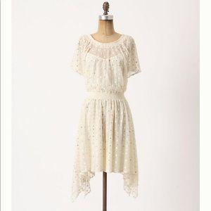 NWT Anthropologie leifnotes Dot-Gleam Dress